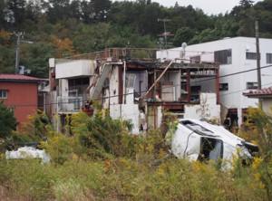 富岡町の居住制限区域(二〇一三年一〇月二五日) 放射線量は毎時三マイクロシーベルト。(写真は筆者)