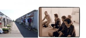 会津若松市の仮設住宅(二〇一三年五月)(写真は筆者)